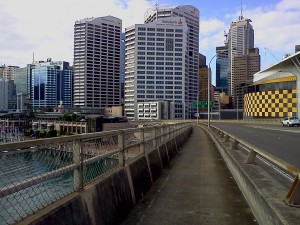Looking back towards the CBD
