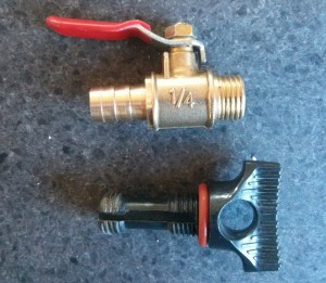 Brass ball valve and original plug
